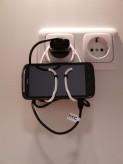 HTC Sensation Handysteckdosenhalter (weiß)