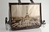 Einkaufstasche Paris sepia